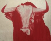 Red Portrait by Adam Pete